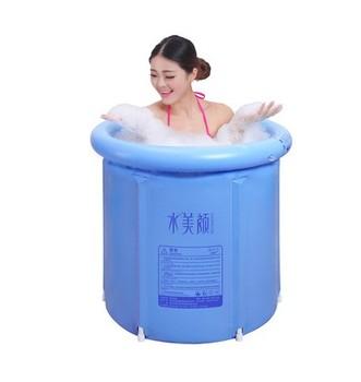 Inflatable Bath Tub PVC Portable Tub SPA Environmental Portable Soaking Tub Bathtub Bathroom SPA For an Adult
