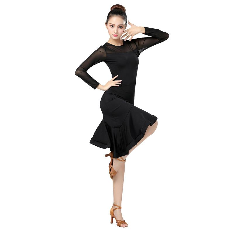 Black Latin Dance Skirt Woman Practice Dress Performance Latin Dance Skirt Black Woman Latin Dance Dresses