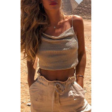 Summer Camisole New Sexy Womens V Neck Loose Casual Tank Tops Sleeveless Short Solid Crop