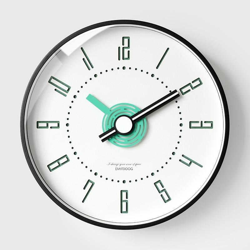 Creative Metal Large Wall Clock Nordic Modern Design Wall Watch Living Room Bedroom Home Decor Silent Quartz Wall Clock Brief