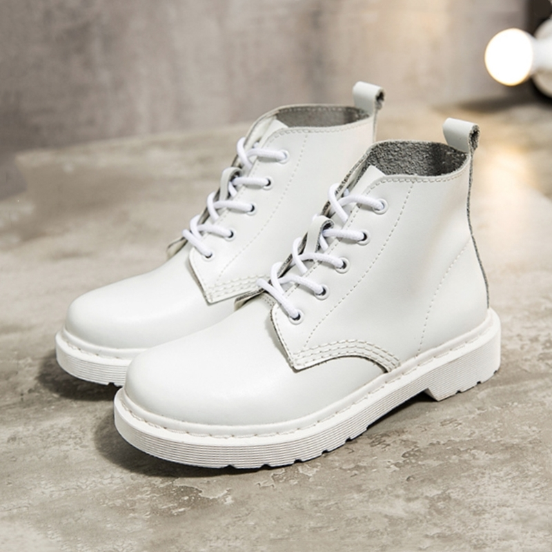 Shoes Motorcycle-Boots Platform Split Autumn White Large-Size Designer Women Ladies Ankle