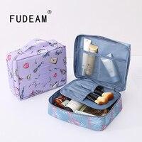 FUDEAM Multifunktions Frauen Outdoor Lagerung Bag Pflege Organisieren Kosmetik Tasche Tragbare Wasserdichte Weibliche Reise Make Up Fällen