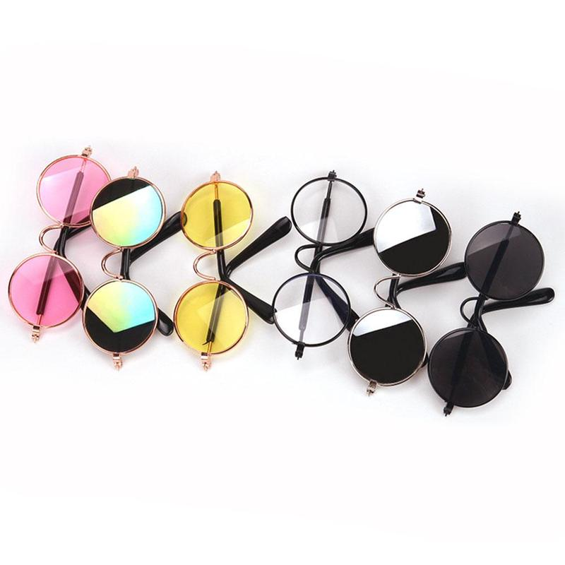 1:12 Sunglasses Glasses Doll House Accessories Toys Prop Mix-color For Vintage Oval Glasses Miniature Doll Accessories Kids Gift