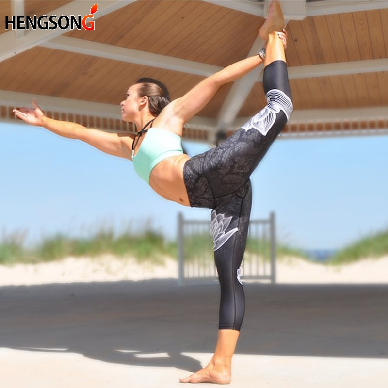 2018 Women's Sportwear Sport Leggins High Waist Push Up Fitness Legging Pants Yoga Elastic Workout Leggings For Women