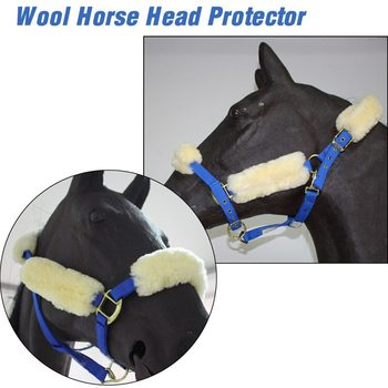 Super Comfortable - Wool Horse Halters - Noseband Covers For Halters  1