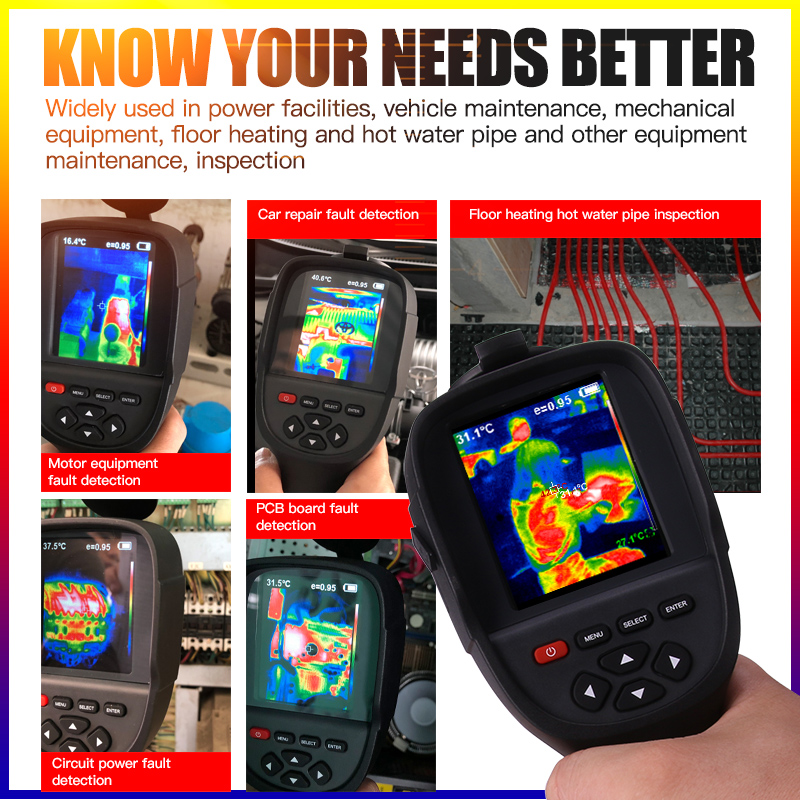 A-BF RX-500/RX-300 High-Resolution Infrared Thermal Imager Industry with Full View TFT Screen