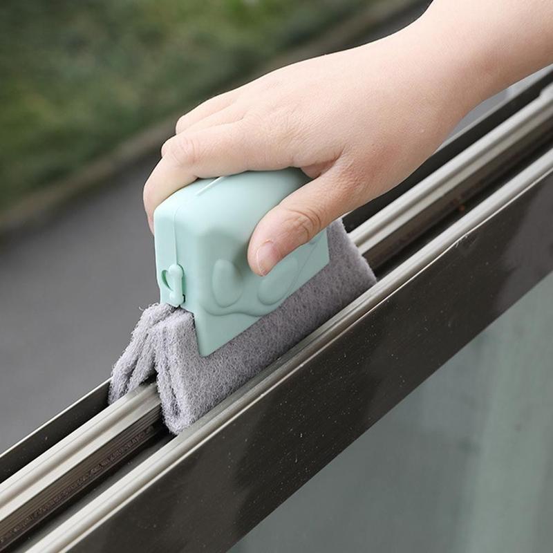2020 Creative Window Groove Cleaning Cloth Window Cleaning Brush Windows Slot Cleaner Brush Clean Window Slot Clean Tool