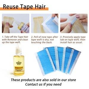 Image 4 - MRSHAIR Extensions de cheveux naturels à bandes ombrées, cheveux adhésifs Double face, non remy, 14 18 20 pouces, 20 pièces/ensemble