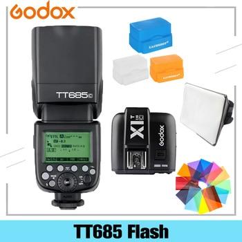 цена на Godox TT685 TT685C TT685N TT685S TT685F TT685O TTL HSS Camera Flash Speedlite For Canon Nikon Sony Fuji Olympus With Diffuser