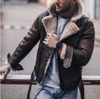 PUIMENTIUA Mens Leather Jackets Male Motorcycle Jacket PU Business Casual Thick Warm Fur Collar Winter Faux Biker Coat Windproof
