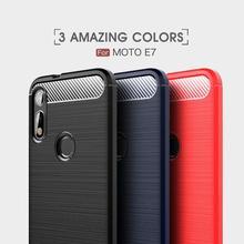 Soft Cover Full Protection Carbon Fiber TPU Silicone Matte Phone For Motorola G8 G7 G6 G5 G4  E7 E6 E5 E4 E3 Case