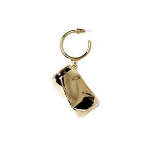 Image 3 - AMBUSH 925 zilver gevouwen kan Oorbellen hip hop mode sieraden originele geschenkdoos