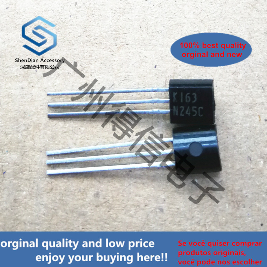 10pcs 100% Orginal New 2SK163N K163 Silicon N-Channel MOS FET  TO-92 Real Photo