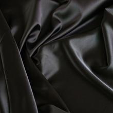 الجملة 2 متر كامل مملة مطاطا الحرير النسيج تقليد الحرير المواد ل قطعة واحدة فستان الثقيلة الأسود الساتان دنة النسيج