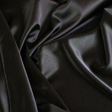 Hurtownia 2 metrowa pełna matowa elastyczna satynowa sztuczny jedwab materiał na jednoczęściowy strój ciężka czarna satynowa tkanina spandex
