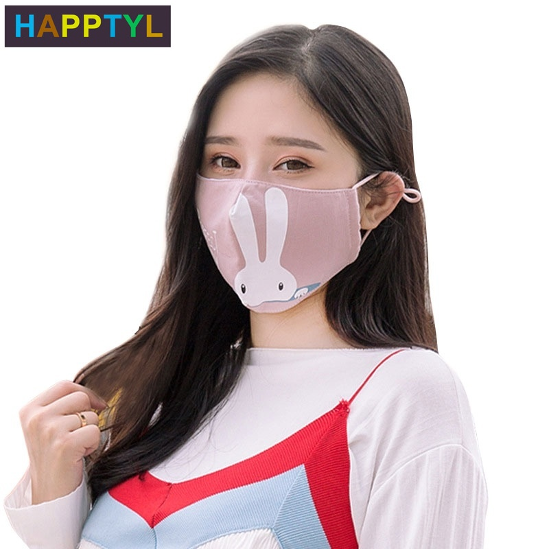 HAPPTYL Cotton PM2.5 Black Mouth Mask Anti Dust Mask Activated Carbon Filter Windproof Mouth-muffle Bacteria Proof Flu Face Mask