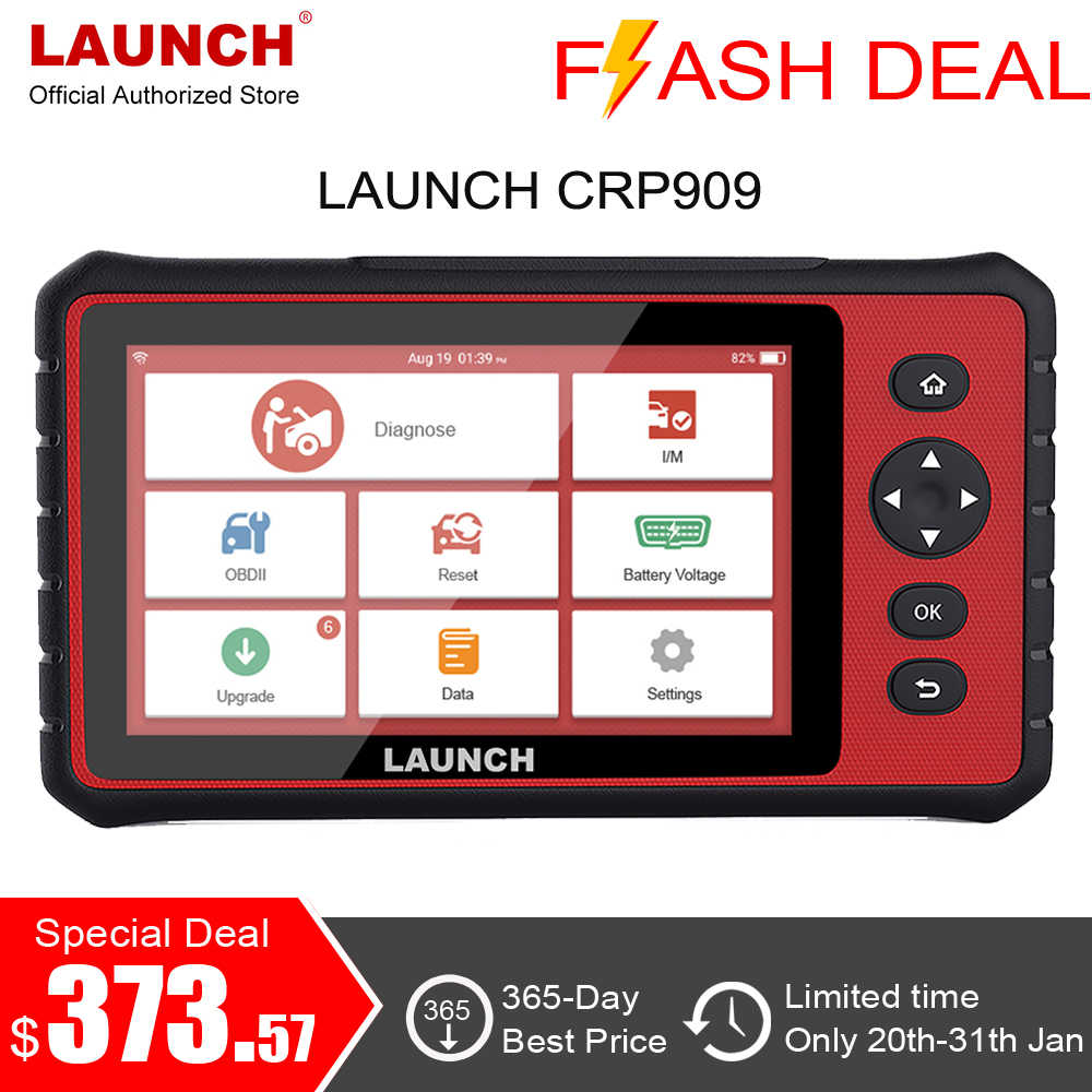LAUNCH X431 CRP909 Full System Diagnostic Tool OBD2 Scanner Auto Car Scanner SAS TPMS ABS EPB Reset OBD 2 Code Reader PK MK808
