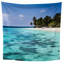 Green sea water Square 1.8*1.8m Wall Hanging Carpet Bedroom Decoration Beautiful Scenery Painting