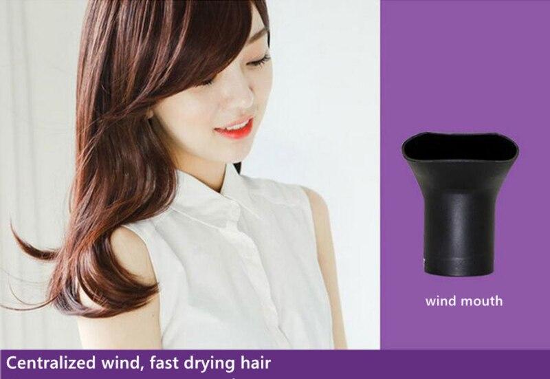 bocal de ar secagem do cabelo uso