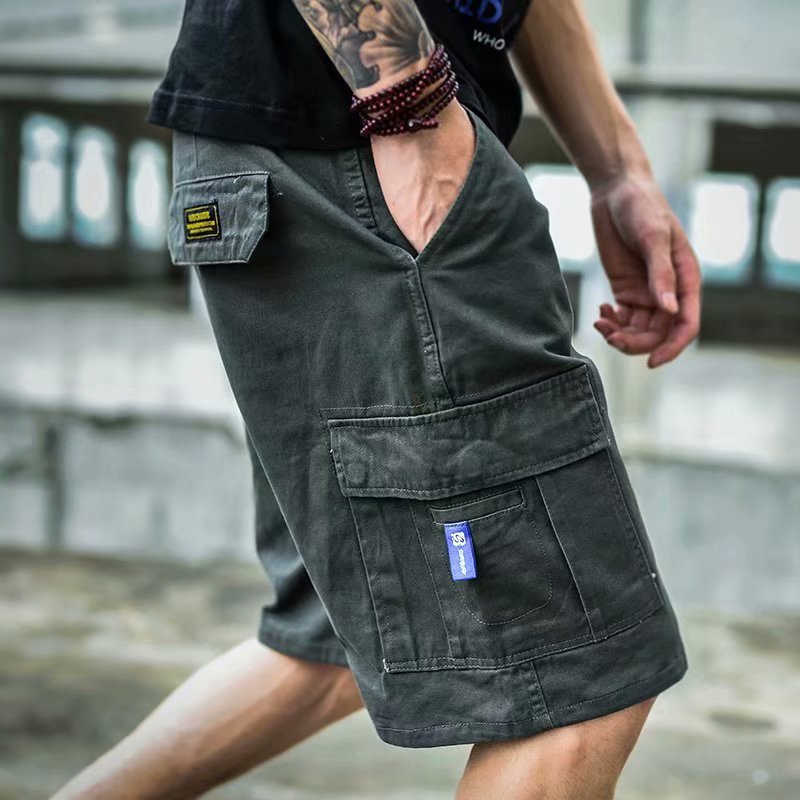 Men Multi-Pocket Cargo Shorts Summer Male Fashion High Quality Streetwear Joggers Shorts Men's Hip Hop Casual Short
