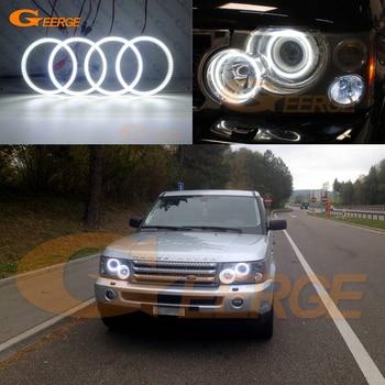 цена на Excellent Ultra bright smd led Angel Eyes kit DRL For Land Rover RANGE ROVER Sport L320 2005 2006 2007 2008 2009 Xenon Headlight