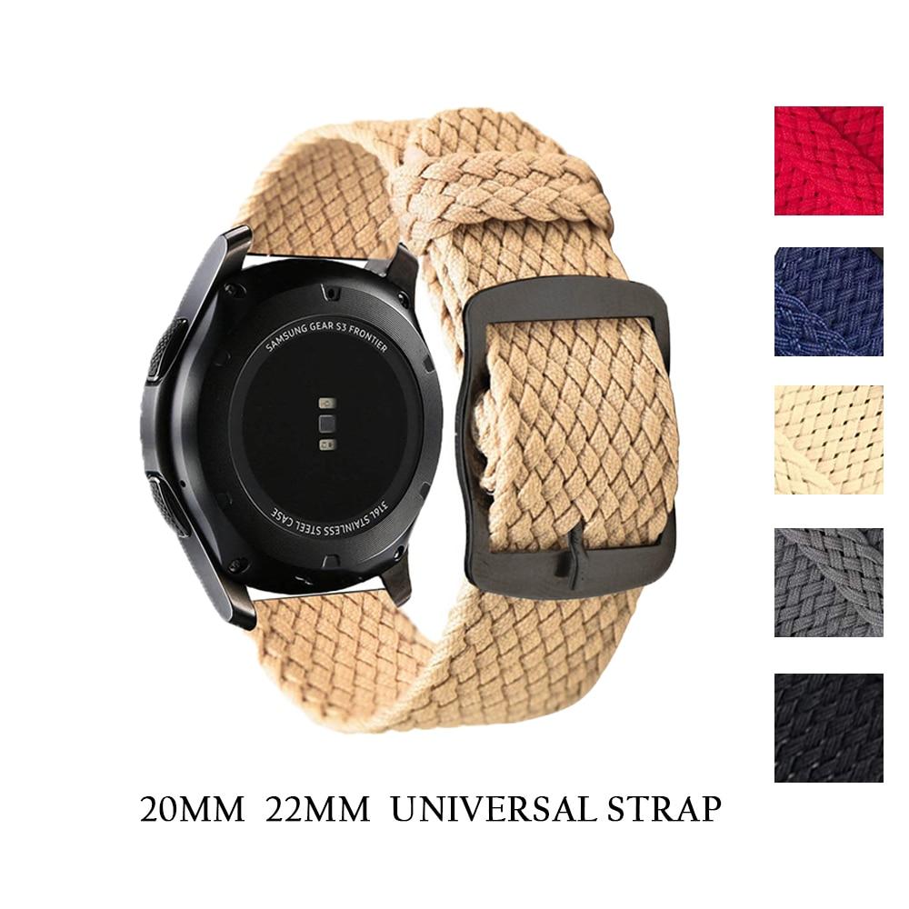 Engrenagem de samsung s3 para xiaomi huami amazfit tempo braçadeira 20 mm 22mm faixa de horloge