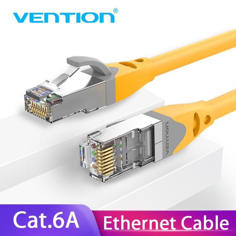 Vention Cat6A Ethernet-кабель RJ45 CAT6A Lan-Кабель rj45, сетевой Ethernet-Кабель для компьютерного маршрутизатора, ноутбука, Ethernet-кабель