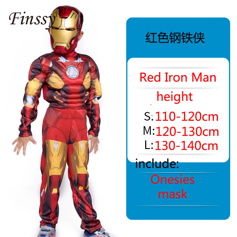 Iron Man Avengers Children's Hulk Fist Captain America Thor Cosplay Costume Stage Performance Suit Birthday Gifts For Kids Boys
