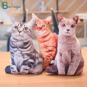Image 1 - 1pc 50cm Simulation Plush Cat Sleeping Pillows Soft Stuffed Animals Cushion Sofa Decor Cartoon Plush Toys for Children Kids Gift