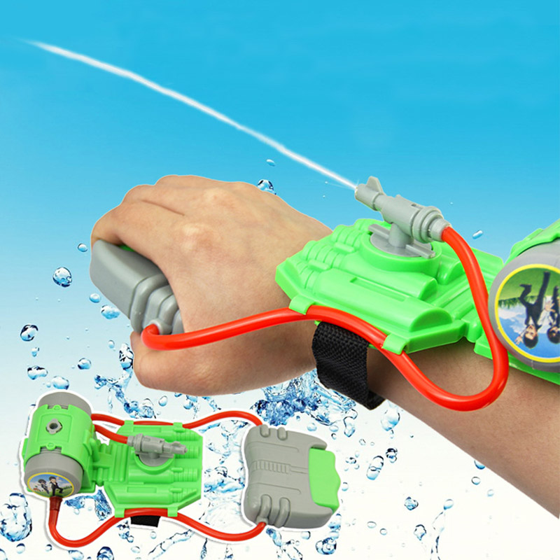 High Quality 5M Range Wrist Water Blaster Plastic Children Kids Outdoor Sprinkling Toy For Swimming Pool Beach