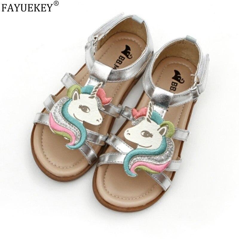 Little Girls Unicorn Sandals Summer