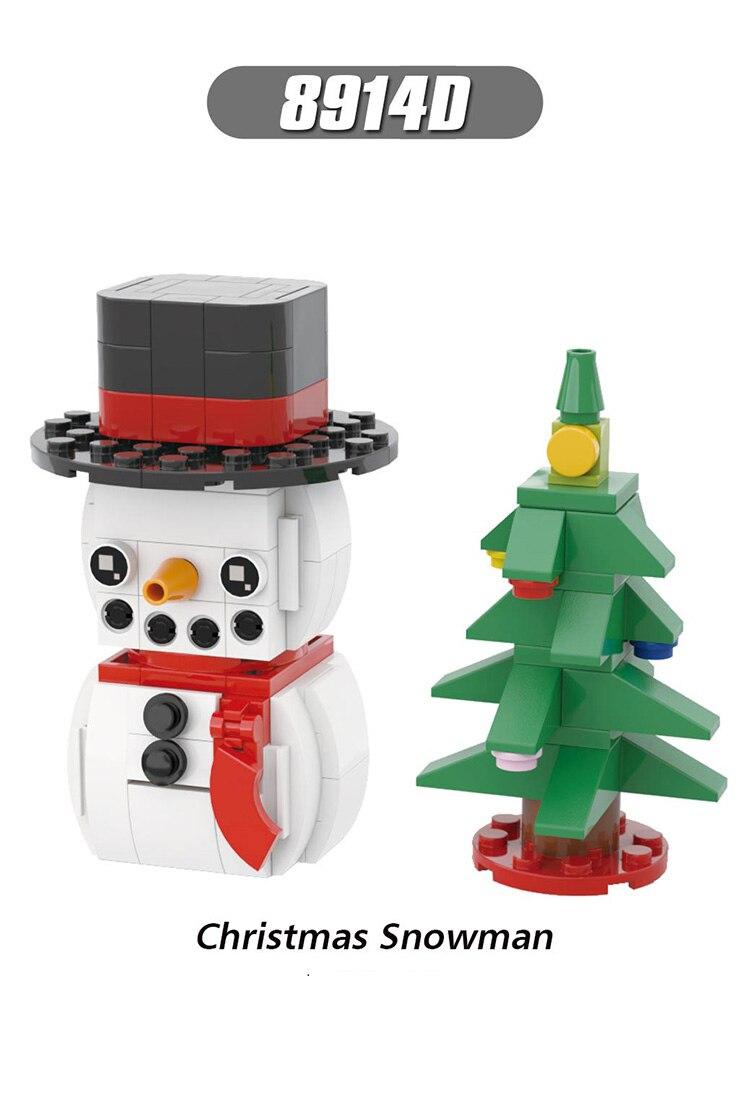 Single Sale Girl Friends Series MiniFigure Christmas Claus Elk Mickey Moues Snowman Blocks Bricks Toys For Children Gifts 8914D