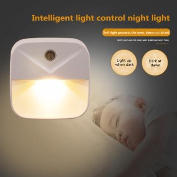 Smart motion sensor bedside night light plug-in energy-saving creative gift LED light for cabinets, stairs, kitchen, bedroom