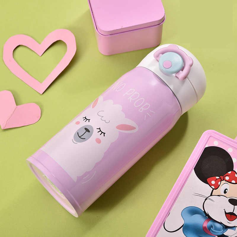 Termo para niños de acero inoxidable de doble pared taza térmica botella Taza de Viaje botella de agua taza al vacío taza térmica de té y café
