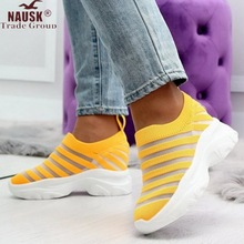 Women Stretch Fabric Socks Shoes Woman Fashion Vulcanize