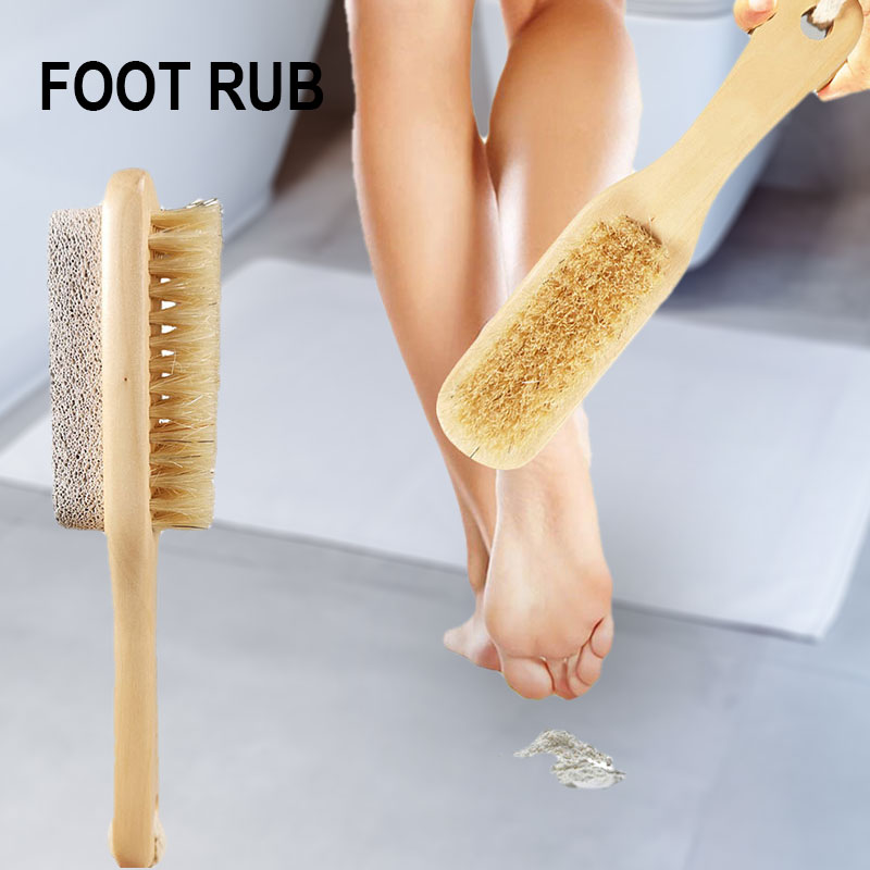 Feet File Double Sided Brush Hard Skin Callus Remover Scrubber Home Pedicure Exfoliation MPwell