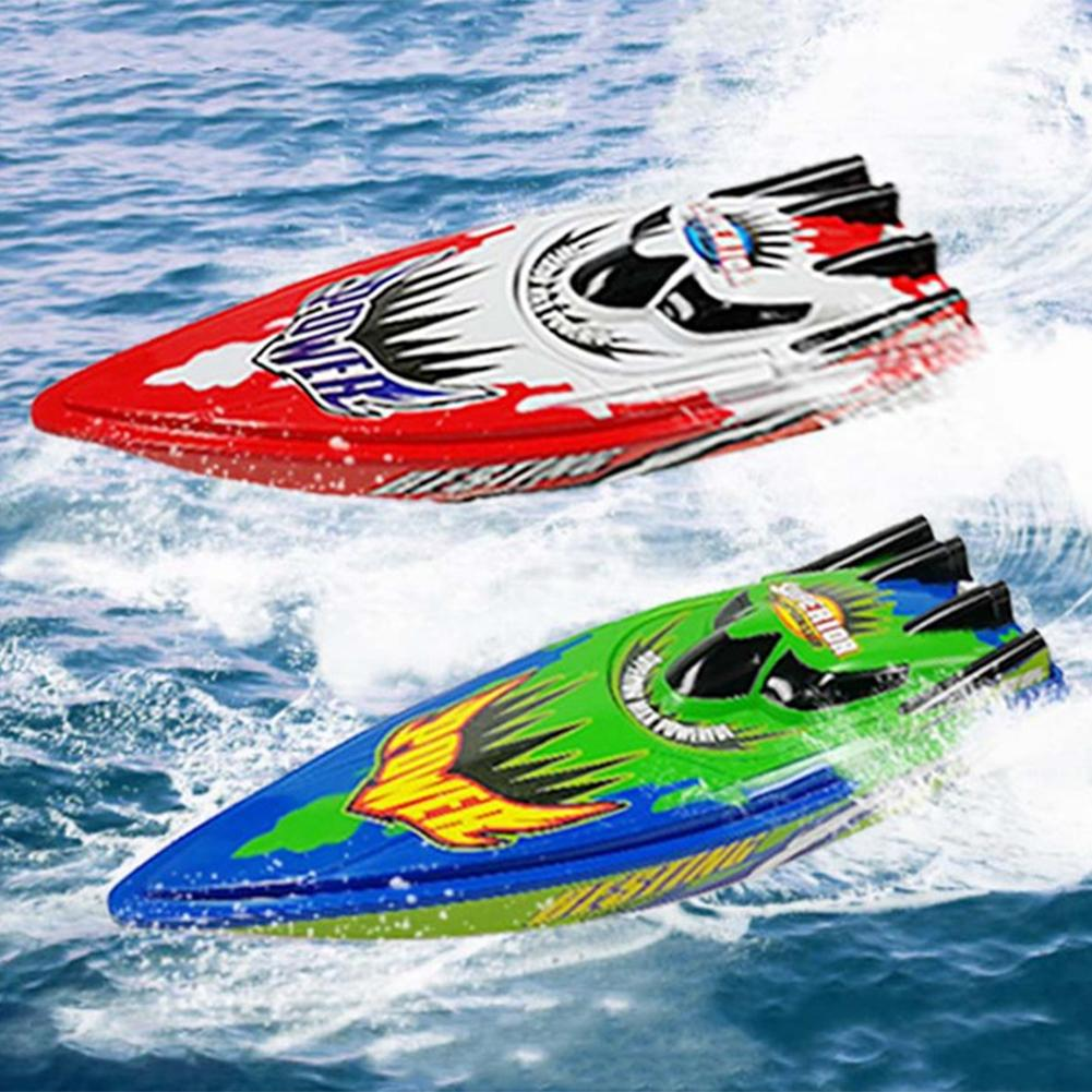 20km/h High Speed RC Boat Radio Controlled Brushed Motor Remote Control Boat Toys Suitable For Lake And Pools No Battery