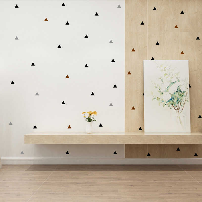 Pequeno triângulos adesivos decorativos quarto do berçário adesivo de parede para o quarto dos miúdos do bebê decalque da parede adesivos crianças quarto