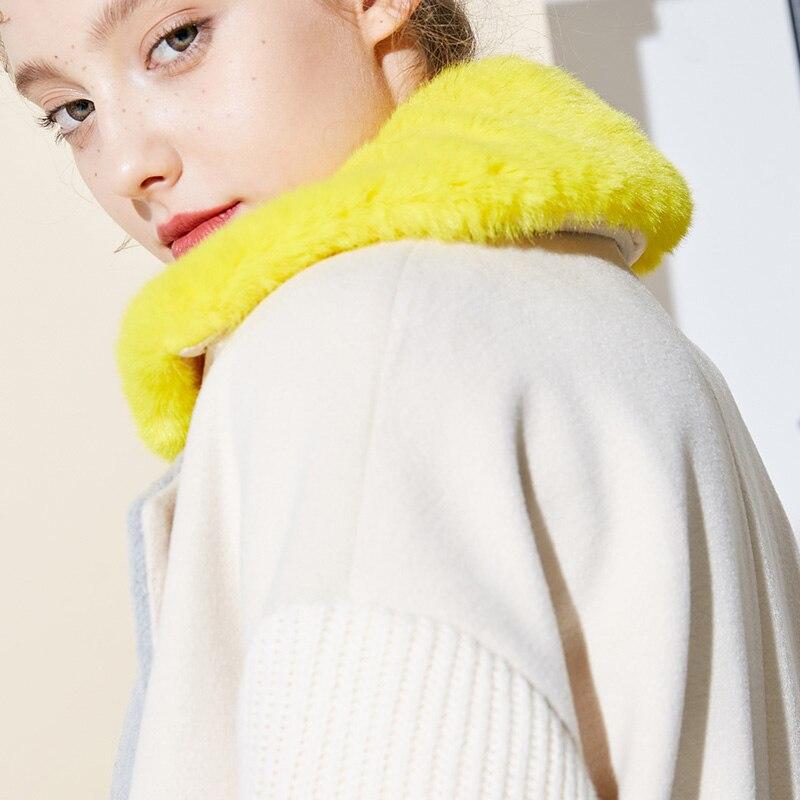 Vero Moda Women's New Stitching Color Matching Detachable Fur Collar Coat  318409504 14