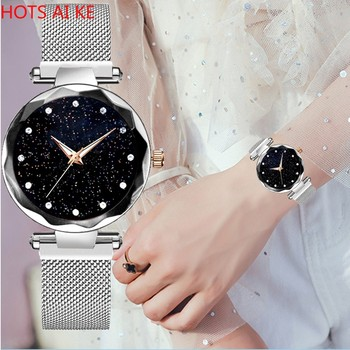Quartz Mannen Diamond Luxe Sky Band Man Women Watch Montre Femme Reloj Mujer Fashion Casual Relogio Feminino Glass Hook Buckle image