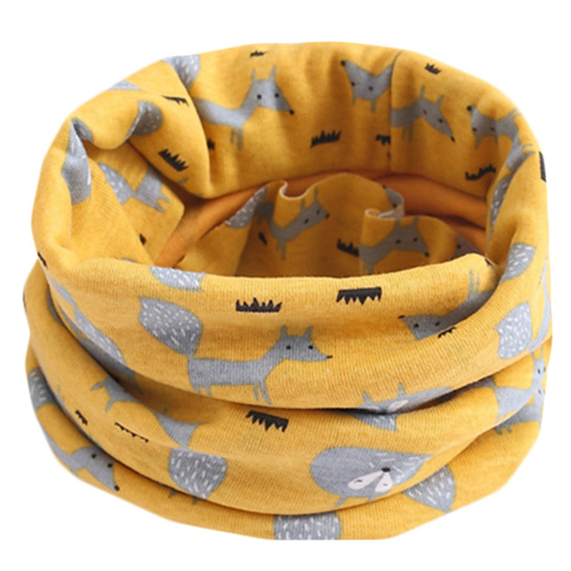 2020 Autumn Winter Children's Cotton Scarf Spring Baby Kids Scarf Boys And Girls Scarves Child Collar O Ring Magic Neckerchief
