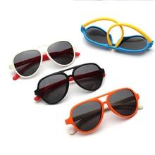 Baby Glasses Eyewear Children UV400 Girls Splicing-Colors Safety Piolt Silicone Kids