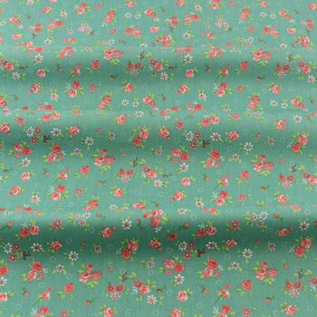 Zielony 100 bawełna tkaniny do szycia drukowane kwiatowe wzory Tecido Scrapbooking pościel Twill tkaniny nowości pikowania Patchwork tanie i dobre opinie booksew wyszywana CN (pochodzenie) Przyjazne dla środowiska Other 160cm Inna tkanina PRINTED patchwork bedding set quilting clothing scrapbooking dolls crafts