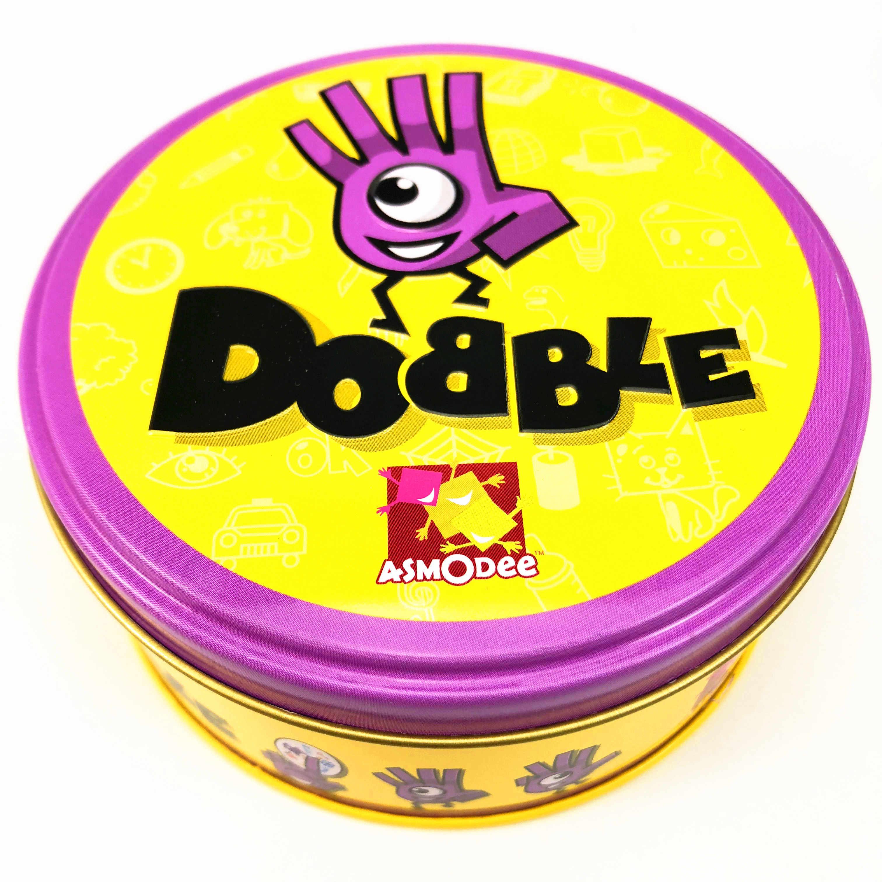 Tempat Itu dan Dobble Kartu Meja Permainan Papan Permainan untuk Dobbles Anak-anak Tempat Kartu Ini Pergi Berkemah Kotak Timah Logam shalom Bahasa Inggris Dasar Mainan