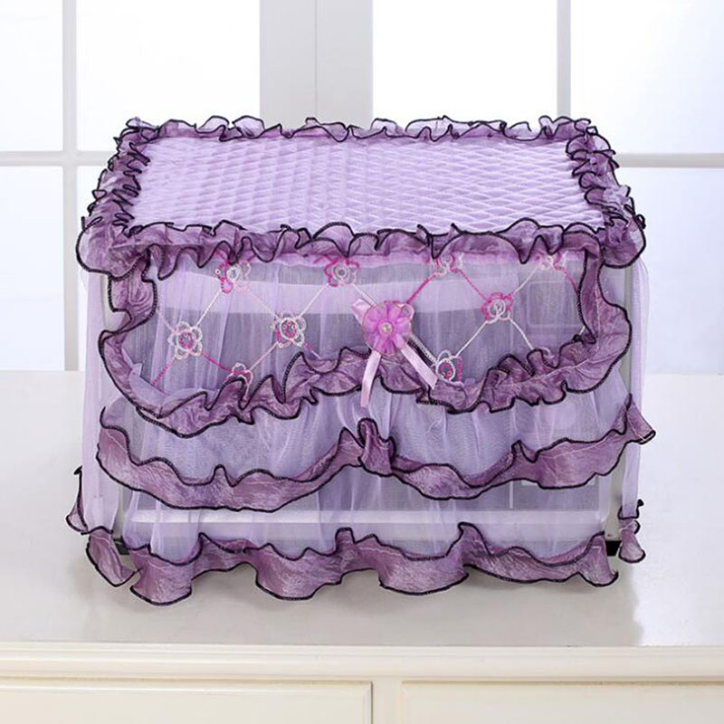 Lace Cloth Cover Microwave Oven Covers Flower Pattern Durable Microwave Oven Dust Covers Wedding Decoration