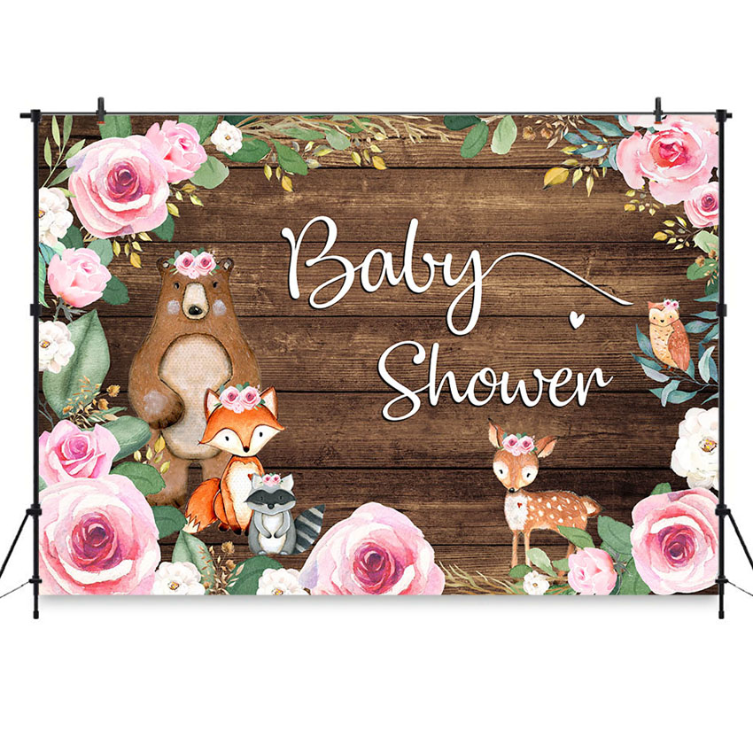 Baby Shower Backdrop Safari Oh Baby Jungle Animals Newborn Photography Background 7x5ft Woodland Baby Shower Backdrop for Pictures Safari Baby Shower Party Supplies Birthday Party Photo Booth Props