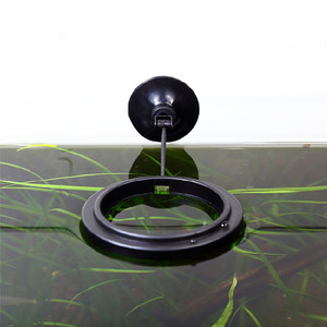 New Aquarium Feeding Ring Fish Tank Station Floating Food Tray Feeder Square Circle Accessory Water Plant Buoyancy Suction Cup #