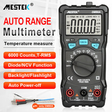 Digital Multimeter 6000 Counts AC/DC Ammeter Fuse Alarm Diode Volt Ohm Tester Meter Multimetro With Thermocouple LCD Backlight