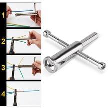 Автоматический инструмент для зачистки и скручивания проводов Hexagonn электрик двойной провод соединитель клеммный блок универсальный тип намотки головки