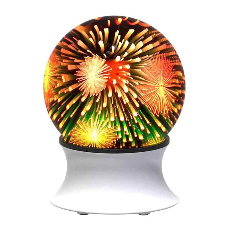 3D fuegos artificiales luz con altavoz inalámbrico USB colorida lámpara de mesa Luz Ambiental de noche